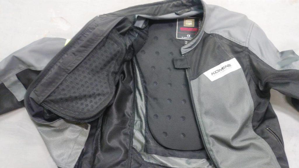 コミネのメッシュジャケット